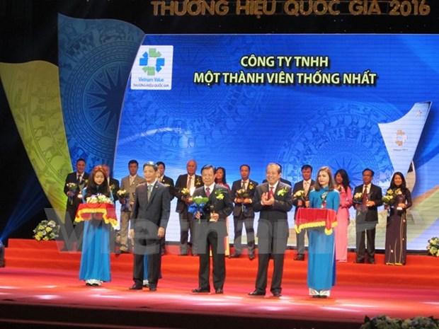 拥有国家级商标产品的88家越南企业获殊荣 hinh anh 1