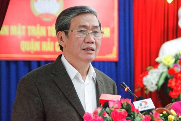 越共中央书记处常务书记丁世兄接触岘港市选民 hinh anh 1