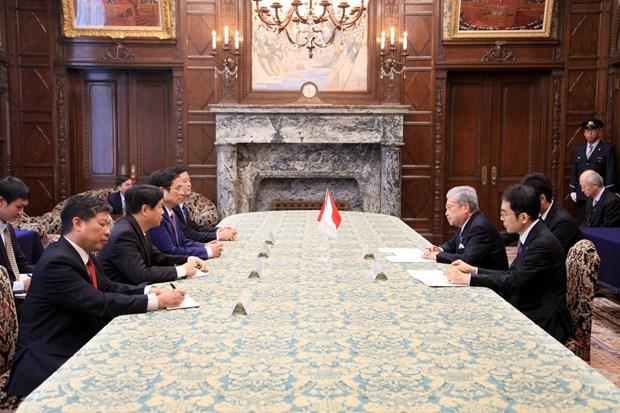 日本国会领导会见越共中央组织部部长范明政 hinh anh 1