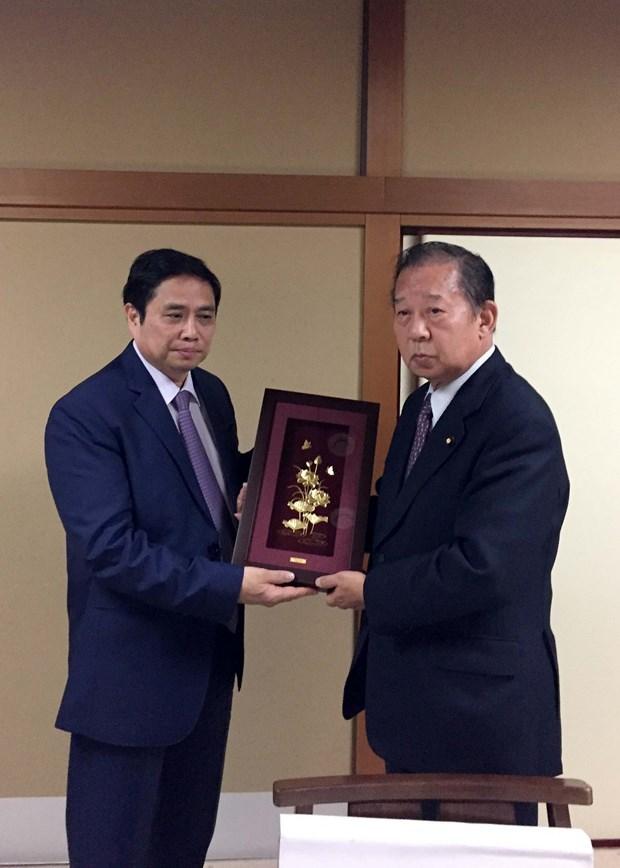 日本国会领导会见越共中央组织部部长范明政 hinh anh 3