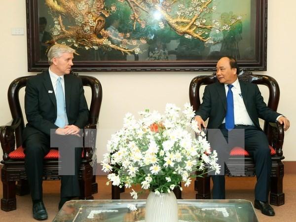 阮春福总理会见亚洲开发银行驻越首席代表埃里克·西奇威克 hinh anh 1