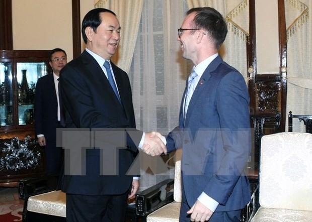 越南国家主席陈大光会见新西兰驻越大使 hinh anh 1