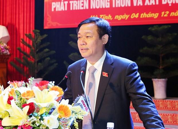 王廷惠副总理要求河静省将新农村建设与海洋环境事故后重建工作相结合 hinh anh 1