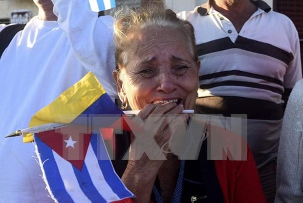 古巴前领导人菲德尔·卡斯特罗葬礼在古巴圣地亚哥举行 hinh anh 1