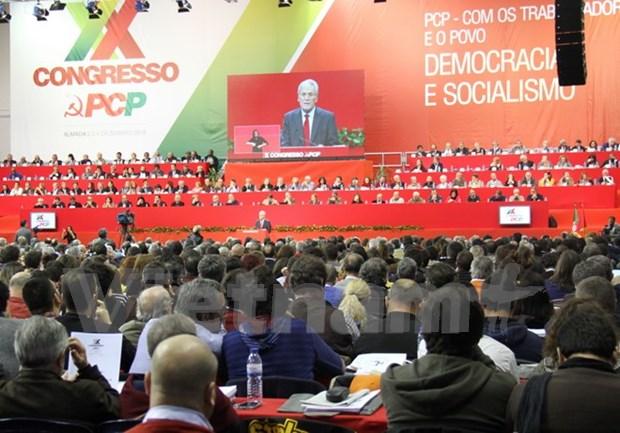 越南共产党代表团出席葡萄牙共产党第二十次全国代表大会 hinh anh 1