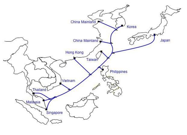 亚洲最大容量海底光缆即将投入运营 hinh anh 1