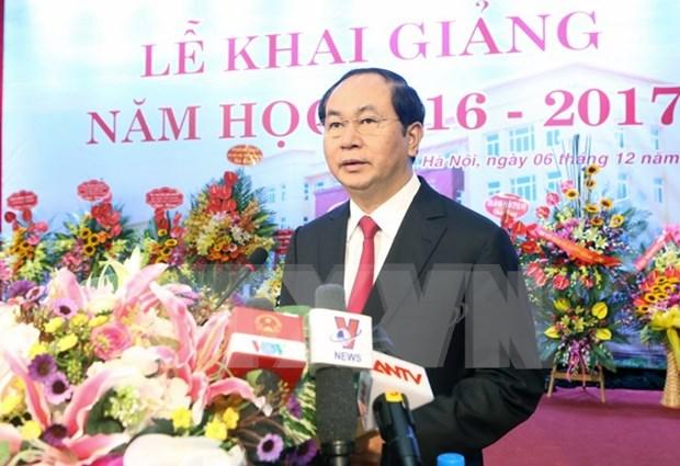 越南国家主席陈大光:力争将法官学院建设成为高质量培训机构 hinh anh 1