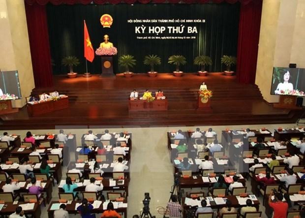 胡志明市第九届人民议会第三次会议拉开序幕 hinh anh 1