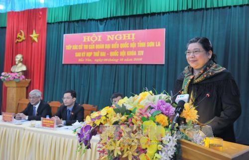 越南国会领导继续与各地选民接触 hinh anh 1
