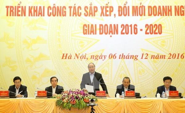 越南政府总理阮春福:大力推动国营企业调整、革新工作进程 hinh anh 1