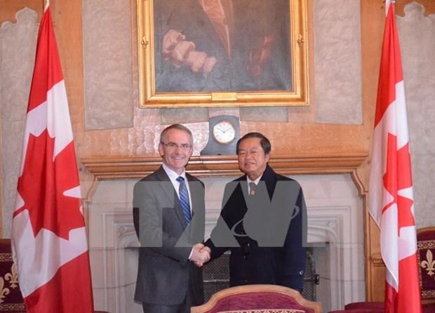 进一步加强越南与加拿大议会间交流与合作 hinh anh 1