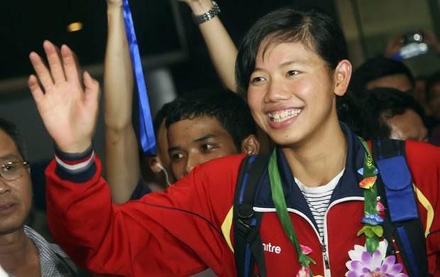 越南游泳名将阮氏映圆参加2016年短池世界锦标赛 hinh anh 1