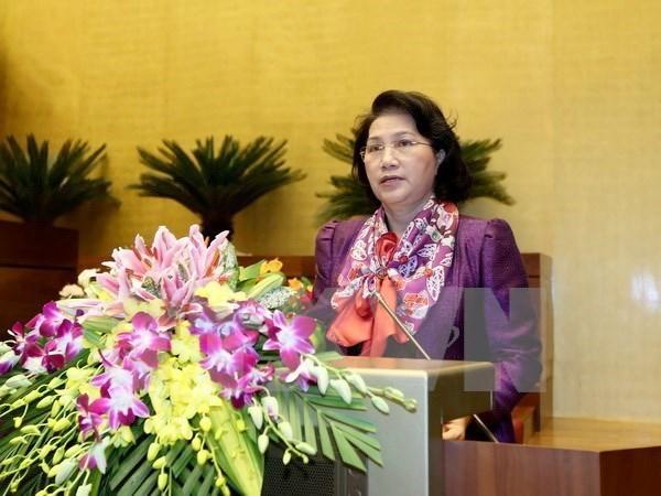 越南国会主席阮氏金银离开河内 启程前往印度进行正式友好访问 hinh anh 1