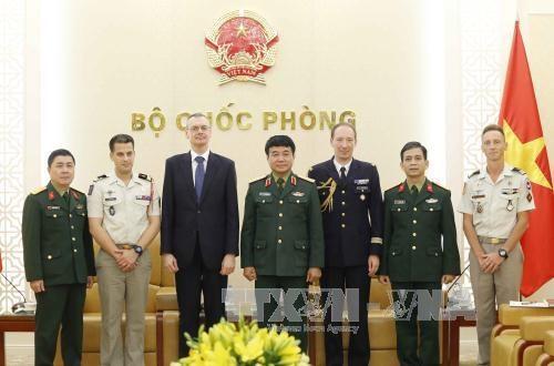 越南人民军副总参谋长武文俊会见法国维和专家代表团 hinh anh 1