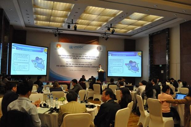 《联合国反腐败公约》实施情况第二轮圆桌会议在河内举行 hinh anh 1