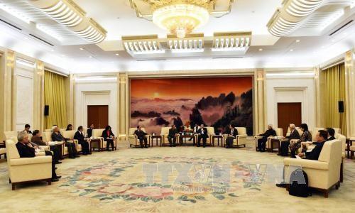 中国全国政协副主席万钢会见越南代表团 hinh anh 1
