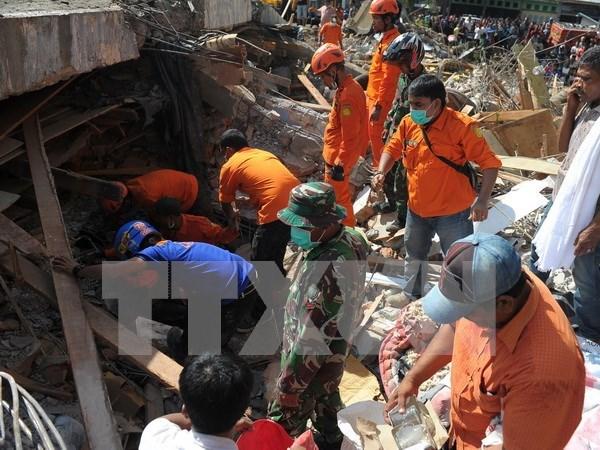 越南国家领导人就印度尼西亚亚齐地震向印尼领导人致慰问电 hinh anh 1