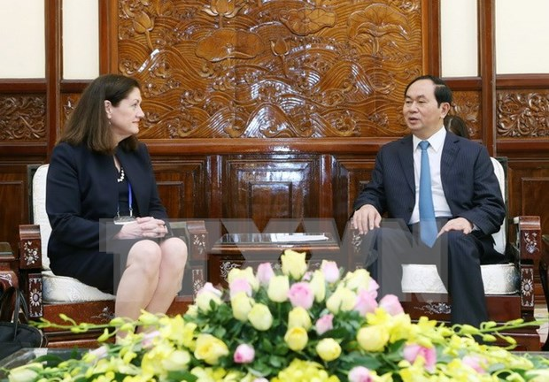 陈大光主席会见美国亚太经合组织国家中心总裁莫妮卡·惠利 hinh anh 1