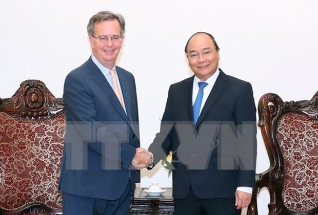 越南政府总理阮春福会见西班牙驻越大使 hinh anh 1