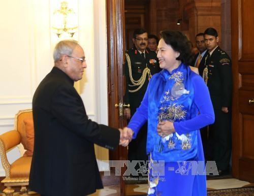 越南国会主席阮氏金银圆满结束对印度进行的正式访问 hinh anh 1