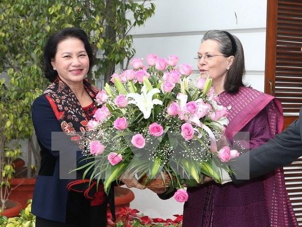 国会主席阮氏金银在印度开展一系列会见活动 hinh anh 1