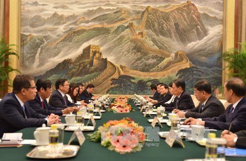 越共中央组织部部长范明政访问中国 hinh anh 1