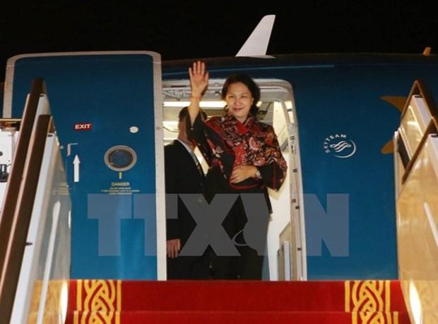 越南国会主席阮氏金银开始出席第11届全球女性议长峰会 hinh anh 1