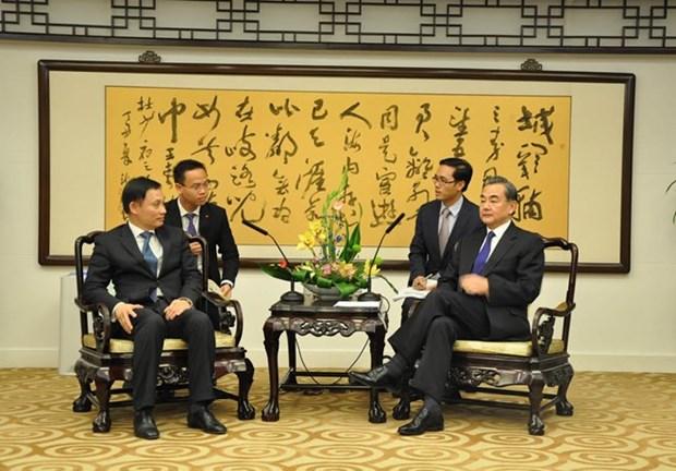 越中举行政府级边界谈判代表团全体会议 hinh anh 1