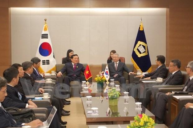 越南最高人民法院代表团对韩国进行正式访问 hinh anh 1