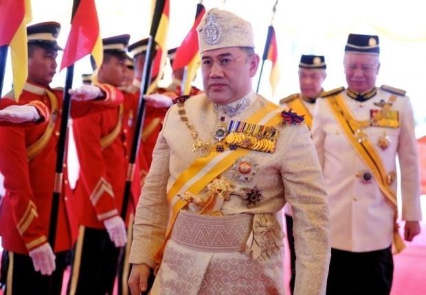 马来西亚新国王宣誓就职 hinh anh 1