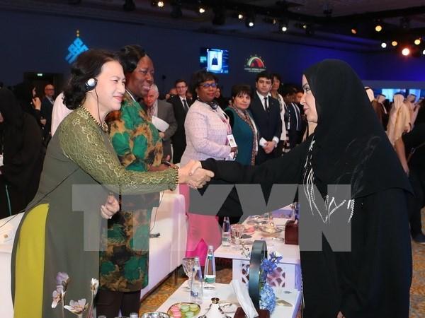 越南国会主席阮氏金银圆满结束出席第11届全球女性议长峰会之旅 hinh anh 1