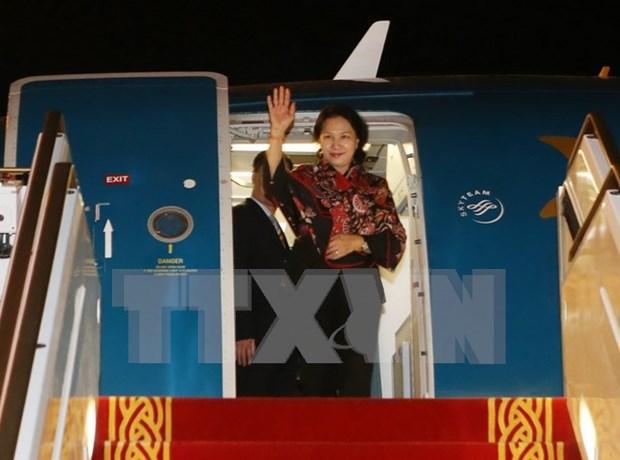 阮氏金银主席圆满结束访印和出席第十一届全球女性议长峰会之旅 hinh anh 1