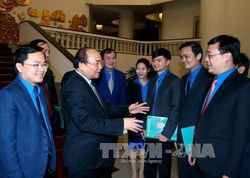 阮春福总理:青年们需发挥创新创业和解决社会各紧迫问题的表率作用 hinh anh 2