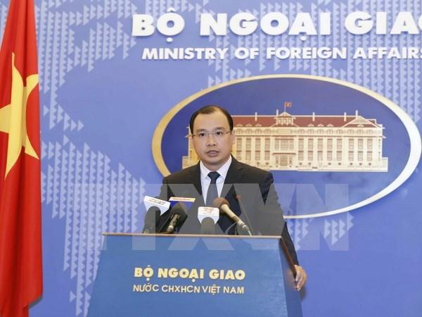 越南外交部发言人黎海平:越方反对一切侵犯越南主权的行为 hinh anh 1