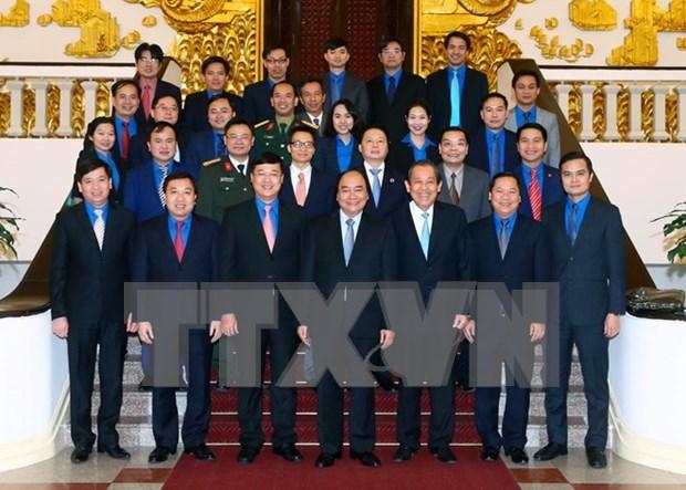阮春福总理:青年们需发挥创新创业和解决社会各紧迫问题的表率作用 hinh anh 1