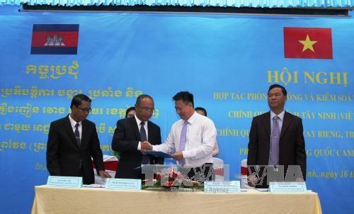 越南西宁省与柬埔寨边境省份加强合作 打击跨境毒品犯罪 hinh anh 1