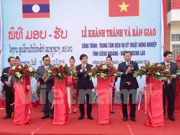 越南援建老挝川圹省农业技术服务中心竣工并投入使用 hinh anh 1
