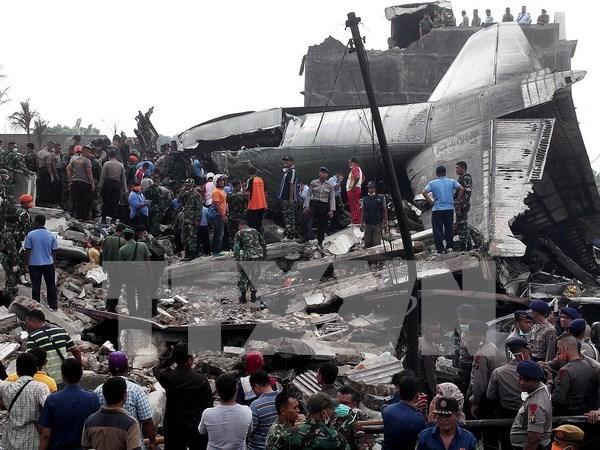 印尼空军运输机坠毁 致使13人死亡 hinh anh 1