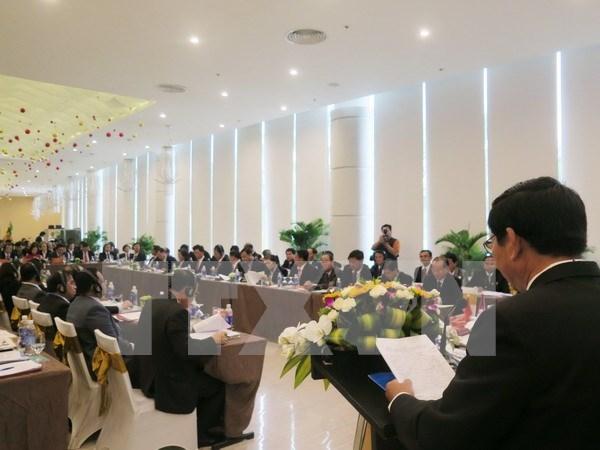 越老柬边境各省法院第四次会议在庆和省召开 hinh anh 1