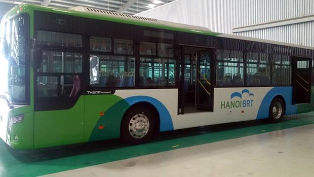 河内首条快速公交线路即将启用 hinh anh 1
