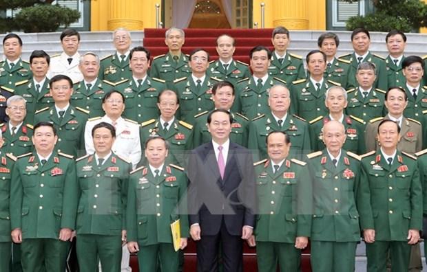 越南国家主席会见作战局历届领导代表 hinh anh 1