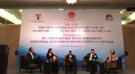 EVFTA:越南吸引对工业投资的良机 hinh anh 1