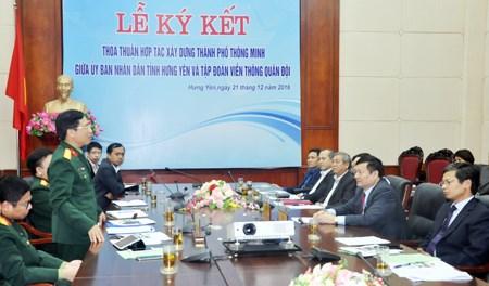 越南兴安省与Viettel集团合作建设智慧城市 hinh anh 1