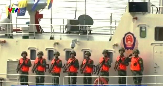 中老缅泰举行湄公河联合巡逻 hinh anh 1