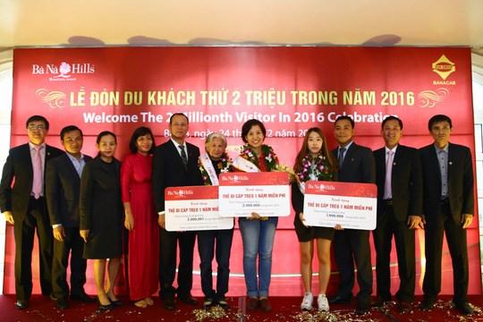 2016年岘港市巴拿山接待游客量达200万人次 hinh anh 1