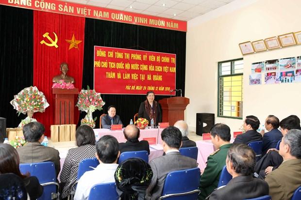 国会副主席丛氏放:努力将高平省建设成为更加美丽富饶的省份 hinh anh 1
