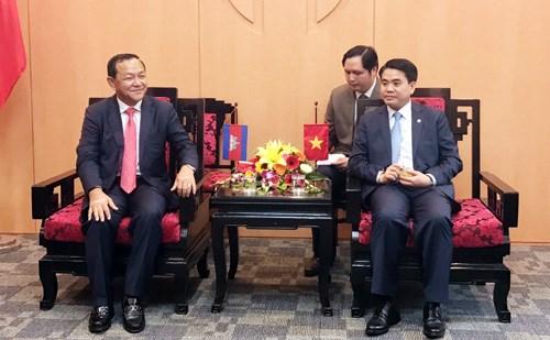 加强越南河内与柬埔寨金边间的关系 hinh anh 1