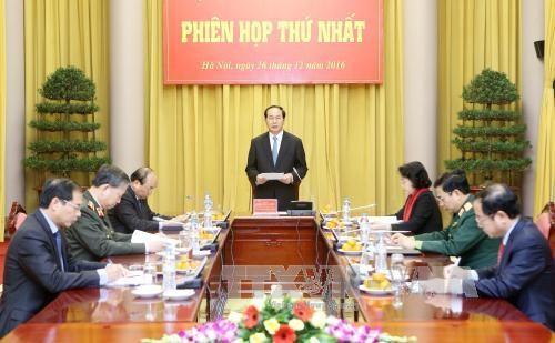 越南国家主席陈大光主持召开国防安全委员会会议 hinh anh 1