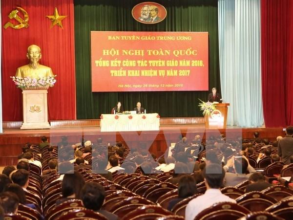 越共中央宣教部部署2017年工作任务 hinh anh 1