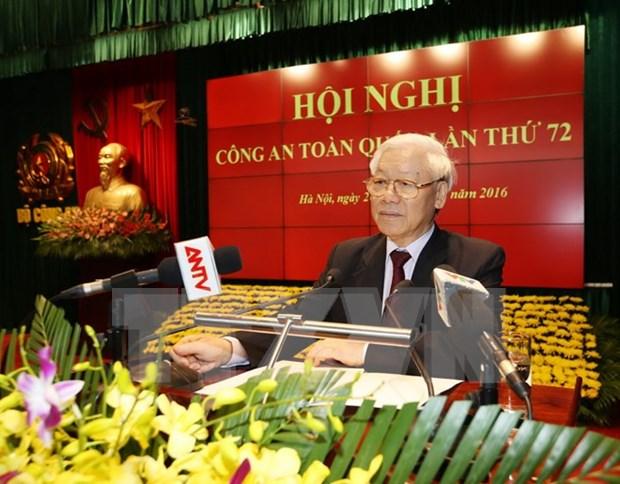 越共中央总书记阮富仲出席第72次全国公安会议 hinh anh 1